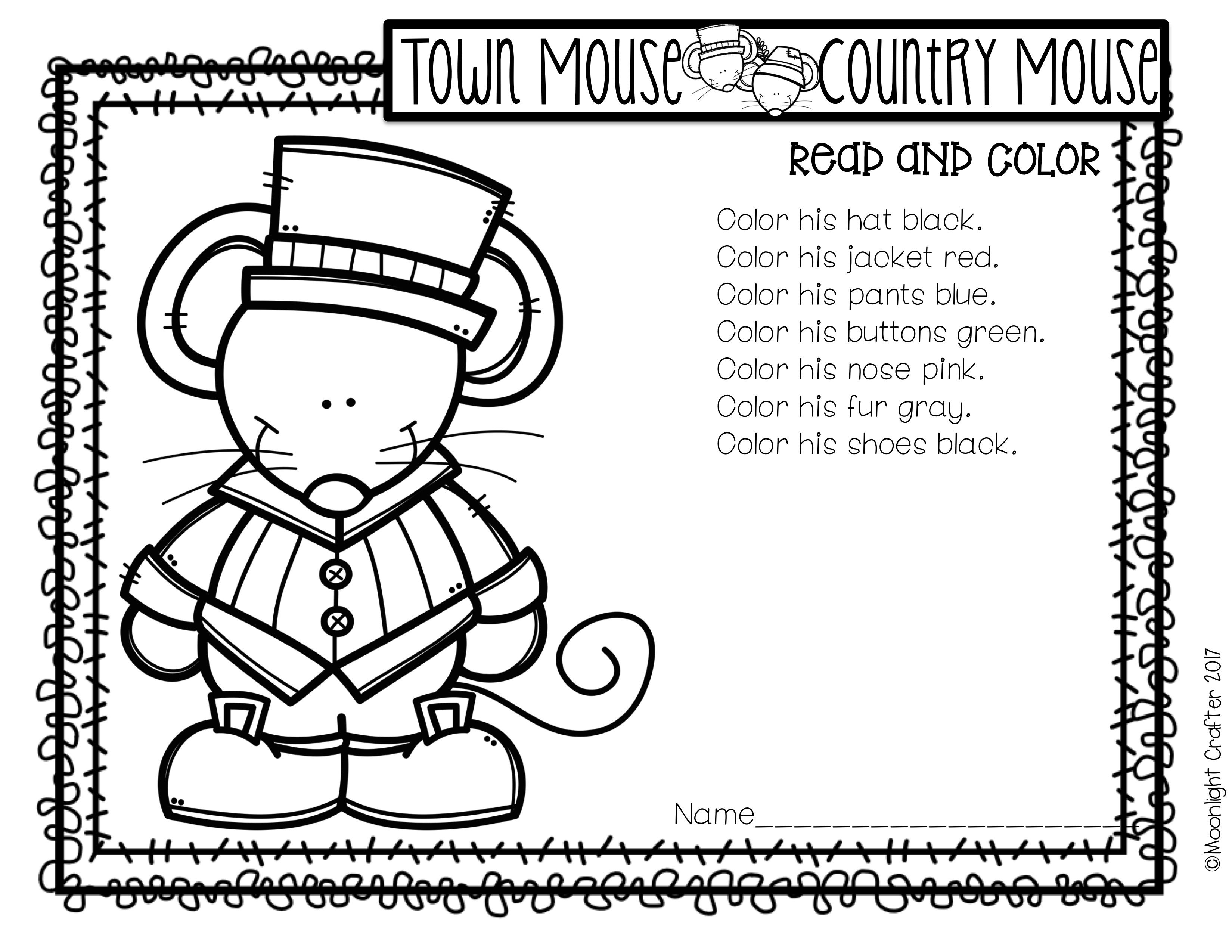 Town Coloring Worksheet