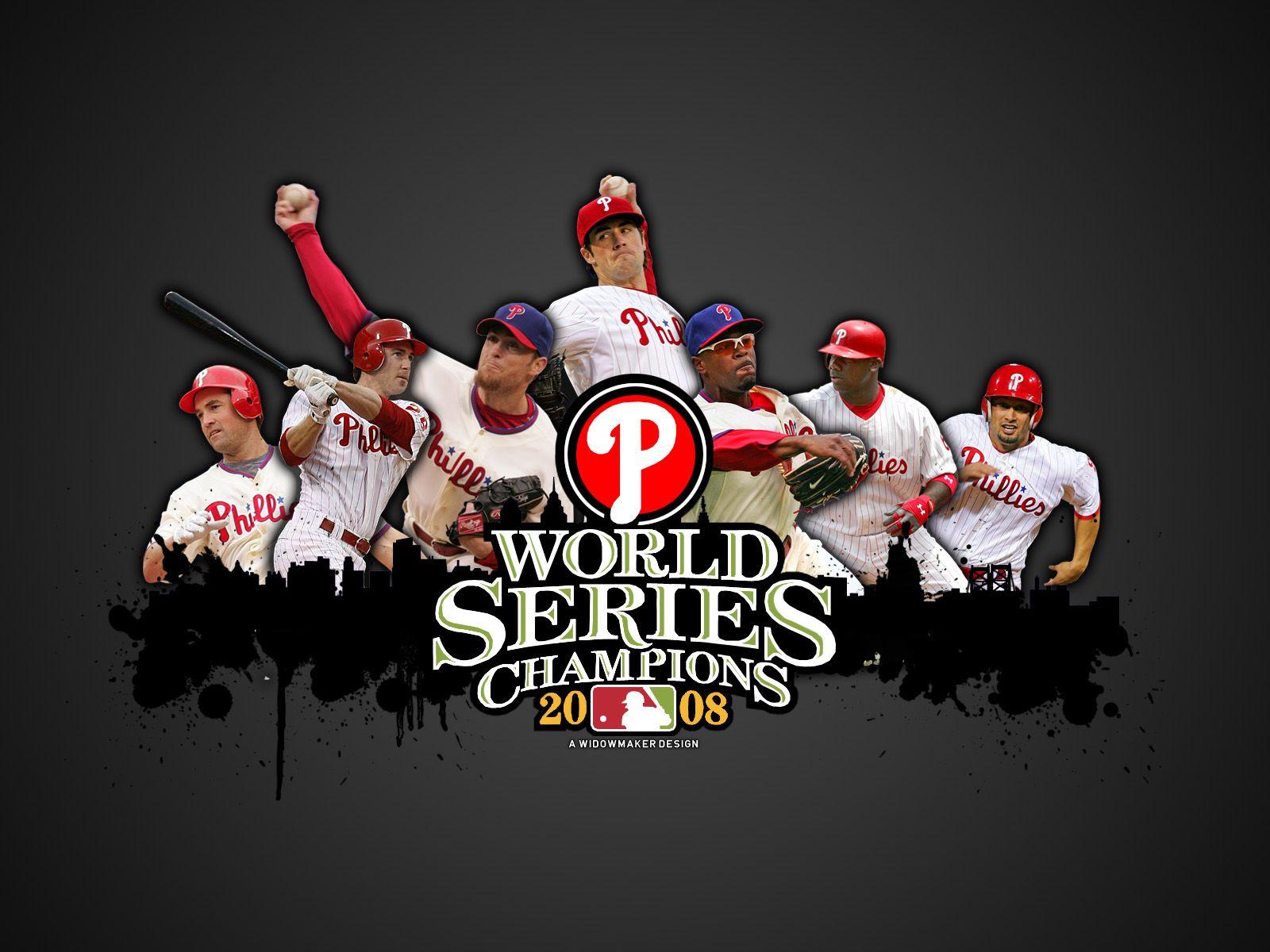 2008 World Series Champs Philadelphia Phillies Philadelphia Phillies Baseball Phillies