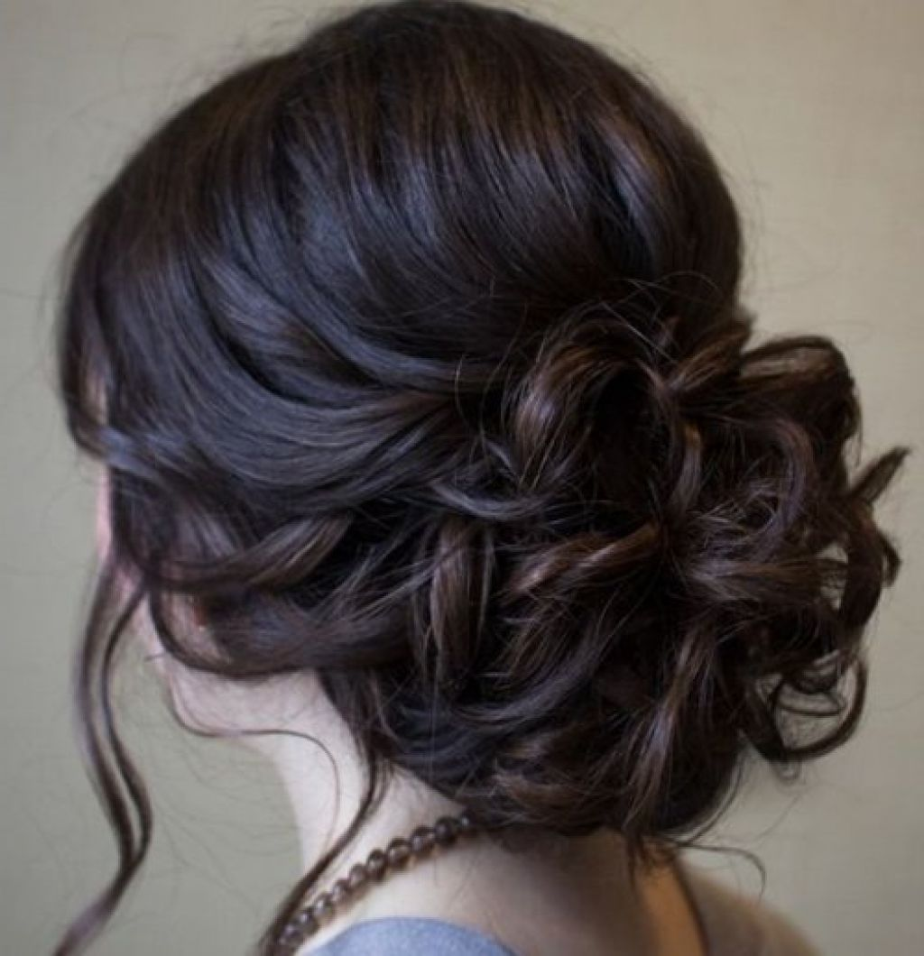 Beautiful Low Prom Updo Hairstyle With Loose Soft Curls ...