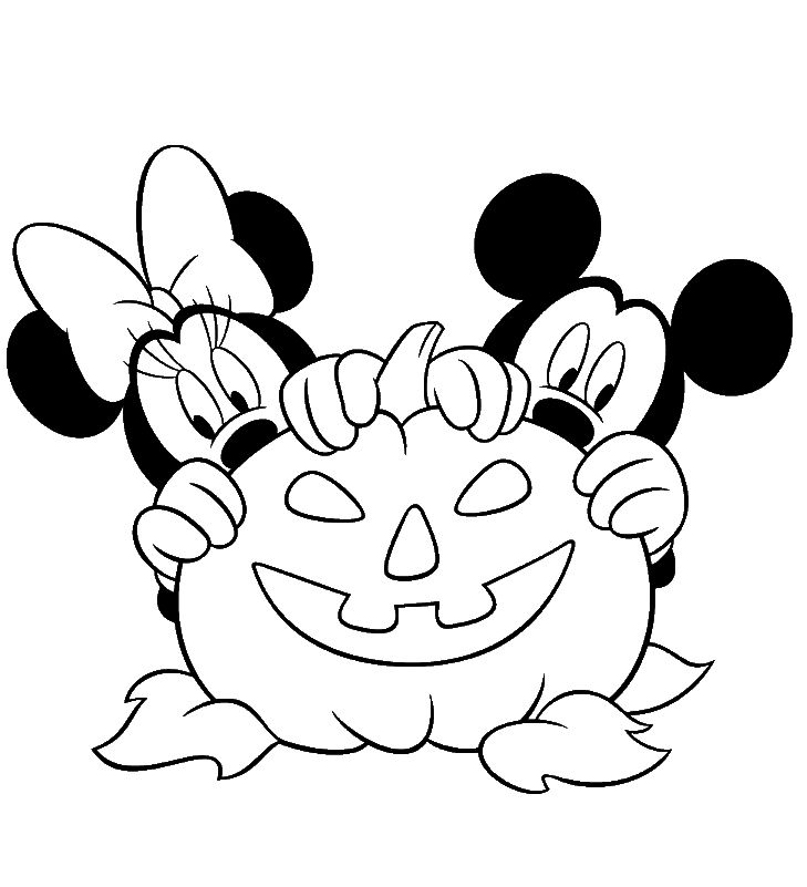 Free disney halloween coloring pages halloween coloring for Minnie mouse halloween coloring pages