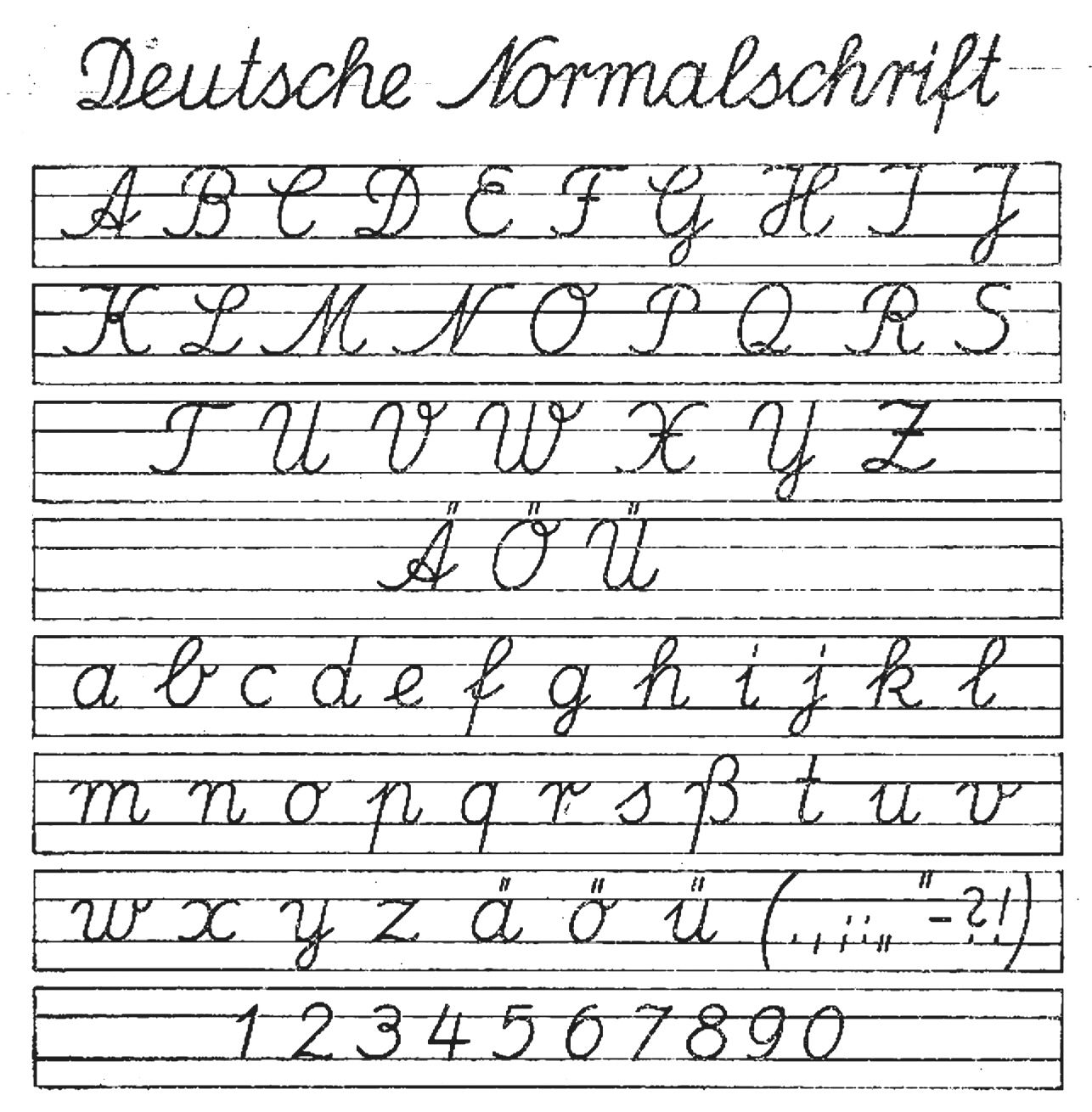 Deutsche normalschrift ab 01091941 - Ausgangsschrift – Wikipedia ...