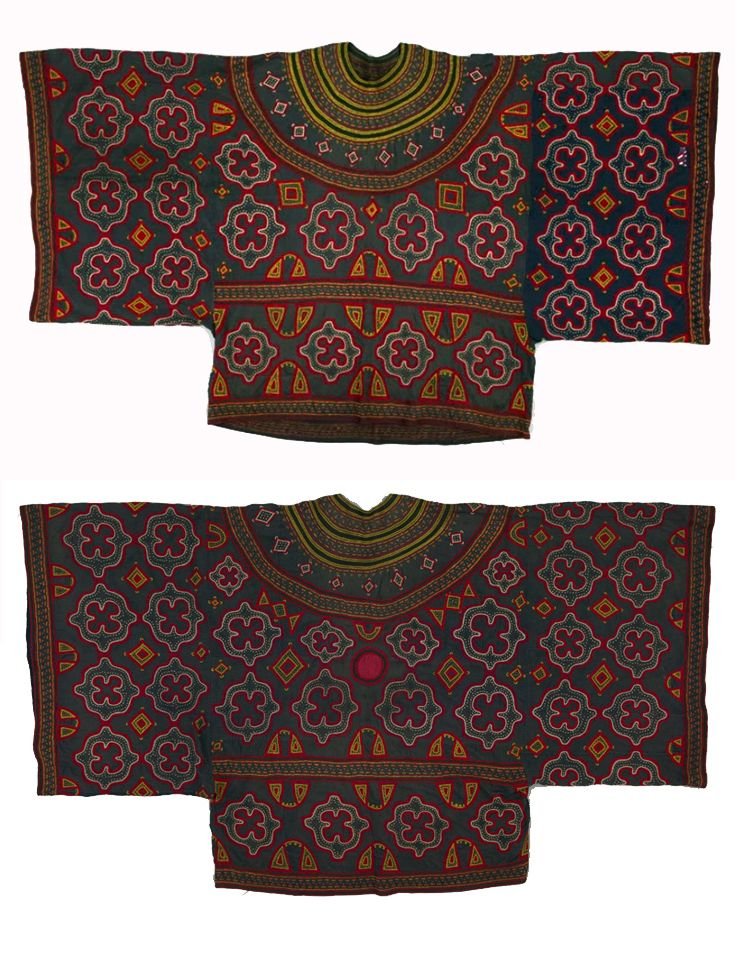 Africa | Robe from Cameroon | c. 1930 - 1970 | Cotton; twill woven; embroidered; hand-sewn