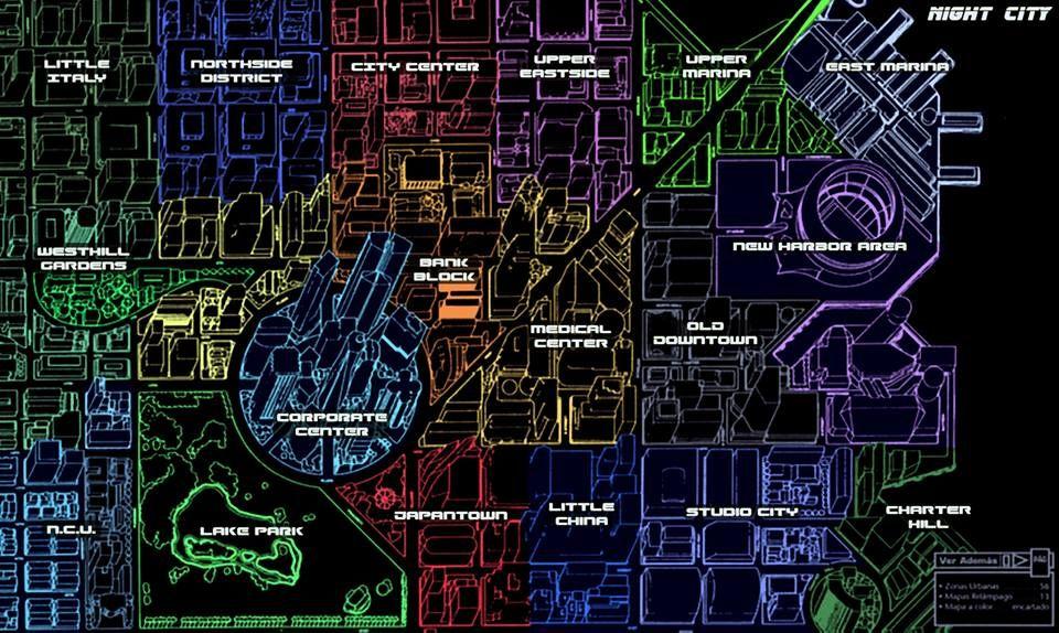 Cyberpunk 2077 Subway Map.Night City City Of Cyberpunk 2020 Futr S C In 2019 Cyberpunk