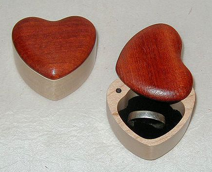 Cute Heart Ring Box With Images Wood Ring Box Wooden Jewelry Small Wooden Boxes