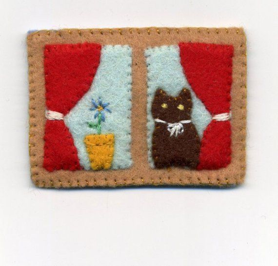 Cat at the Window Pin. $15.00, via Etsy.