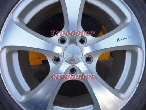 Weds Leonis wheels 7Jx17 + 53 Silver × polish rims