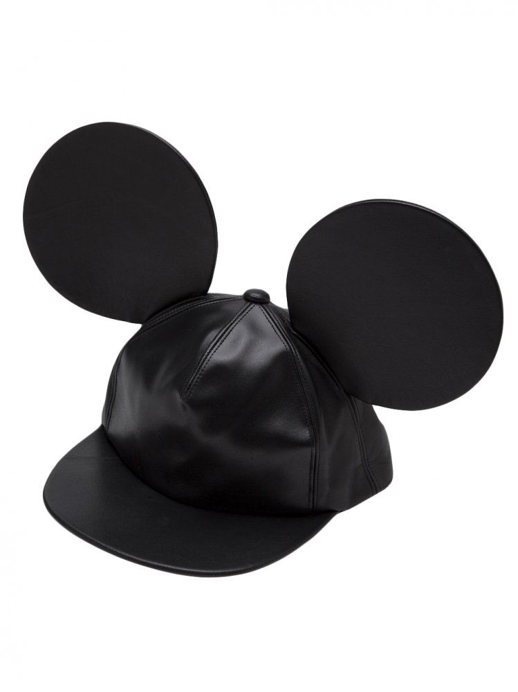 601302f1e9a COMME DES GARCONS - Calf Leather Mouse Ear Cap - PL-K601 1 - H. Lorenzo