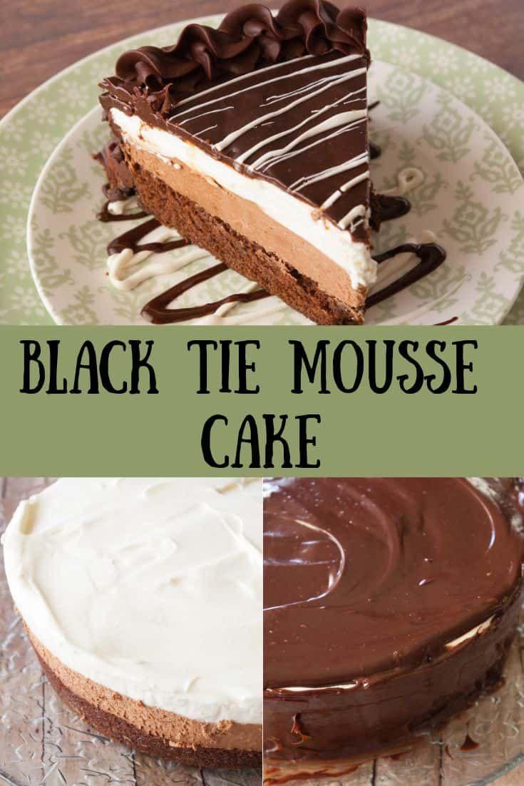 Black tie mousse cake recipe cake recipes chocolate