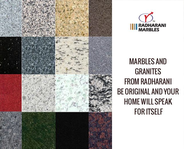 #Marbles and #Granites from RadhaRani Be original and your home will speak for itself.