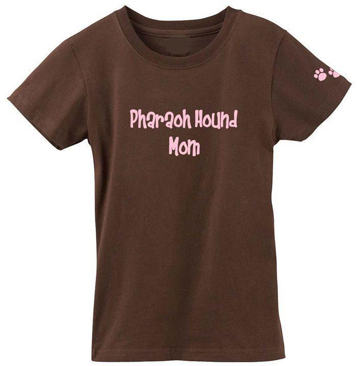 Pharaoh Hound Mom Tshirt Ladies Cut Short Sleeve Adult Small