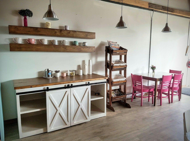 Custom build farmhouse coffee bar by ao decor www