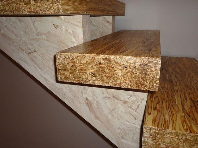 Best Dsc01508 Rustic Stairs Osb Plywood Wood 400 x 300
