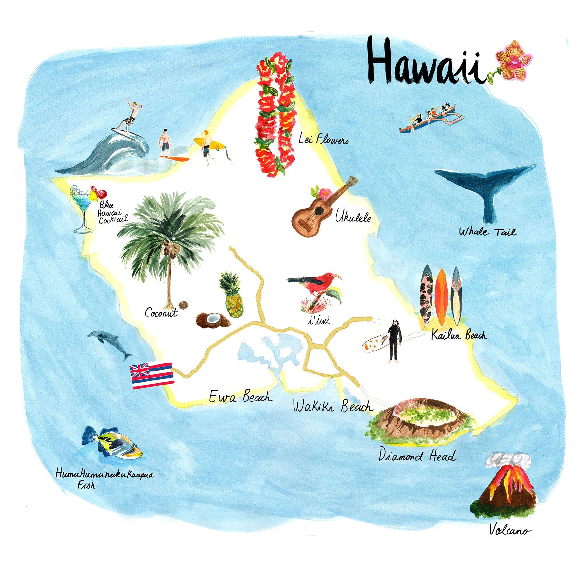T Galleria Hawaii by Cassandre Montoriol  Mapas Mapamundi y Viajar