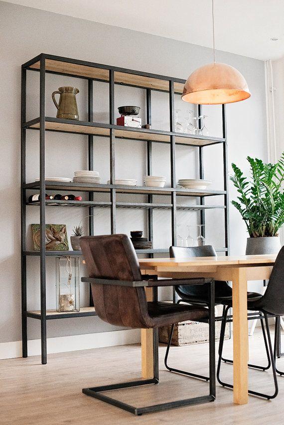 Steel industrial cabinet industrial design and loft for Meubilair plaza huizen