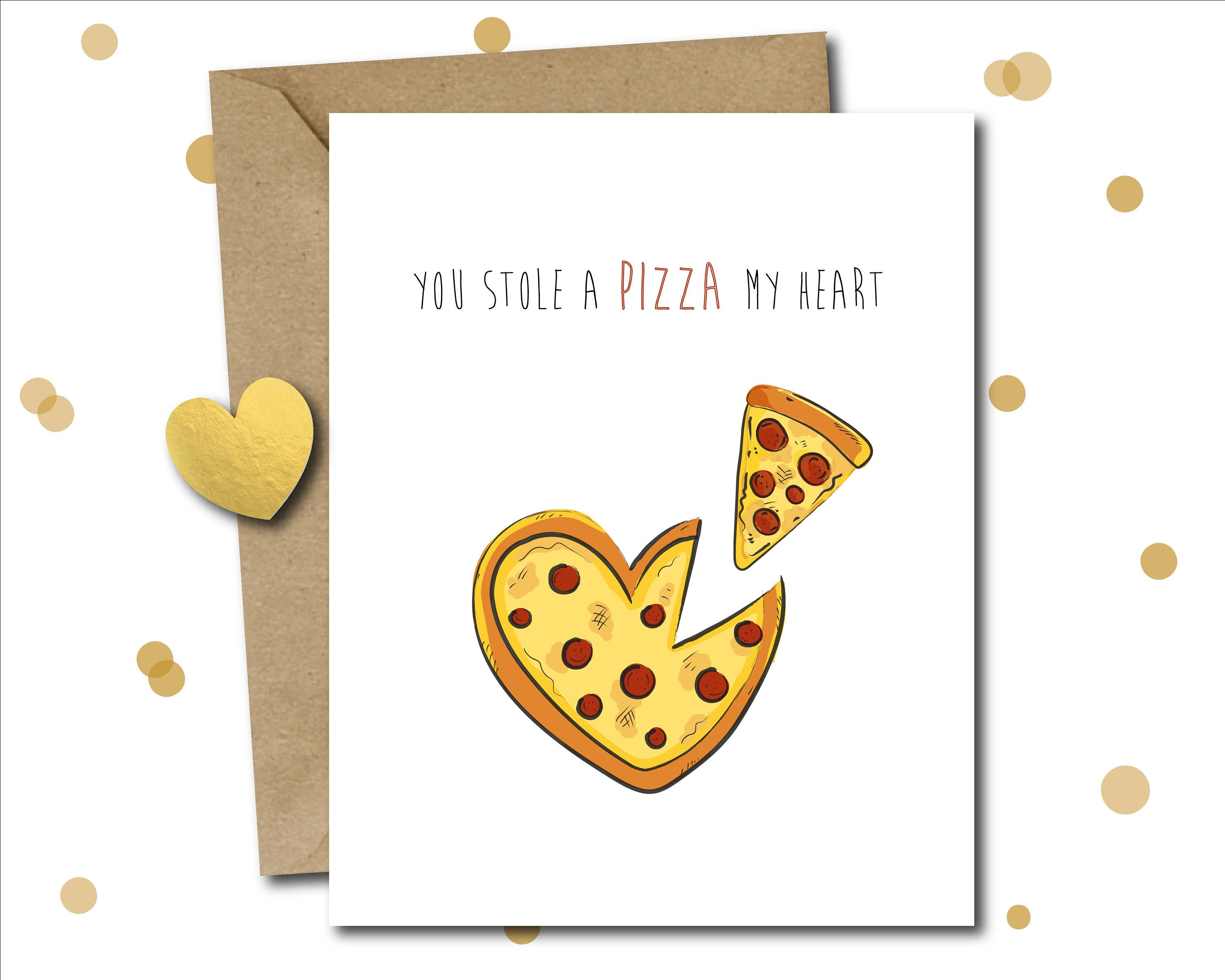 Pizza Lover Anniversary Card For Boyfriend For Husband Love Card