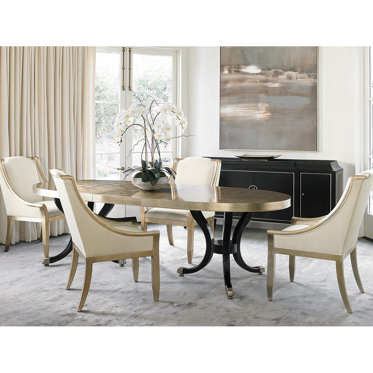 Caracole Classic Draw Attention Dining Table With Images Luxury Dining Room Dining Table Luxury Dining