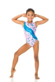 Gymnastics Leotard.  Bubblegum pink and Turquoise.  Super cute!   $27.50