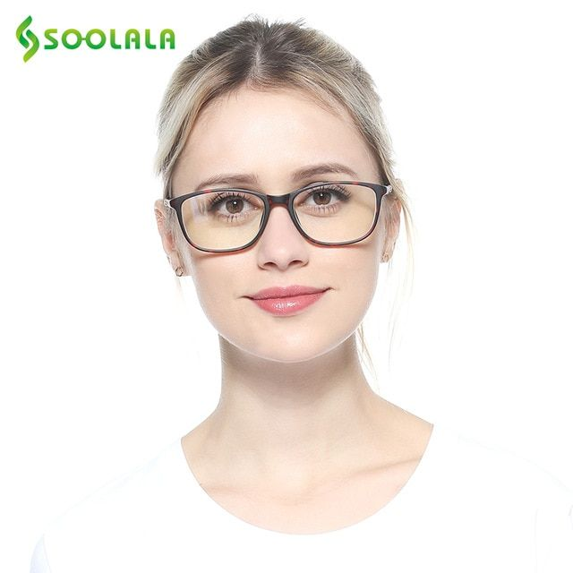 05cbb9cc12 SOOLALA Oversized TR90 Reading Glasses Women Men Full Frame Clear Lens Eyeglasses  Frame Ladies Reading Glasses 0.5 0.75 to 4.0 Review