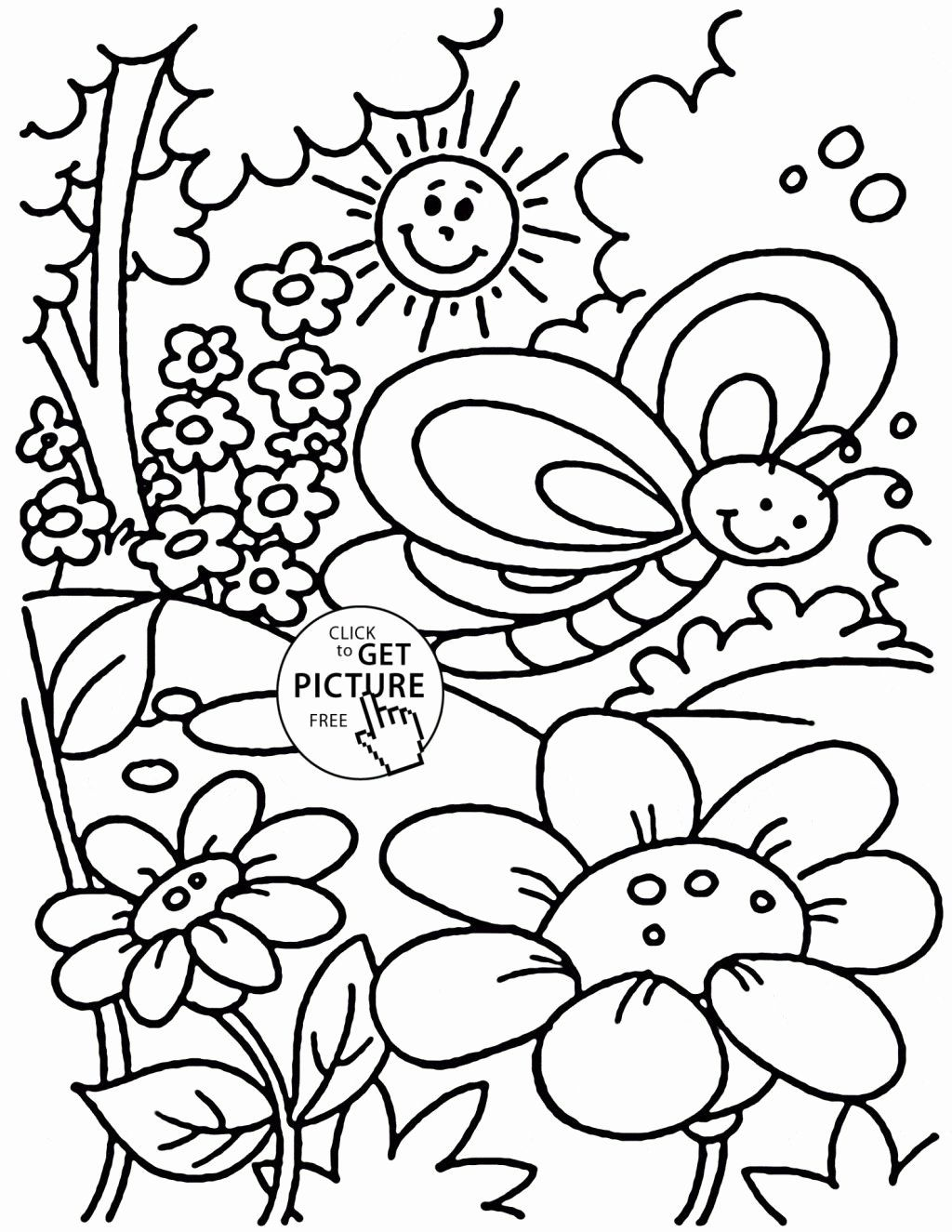 Free Spring Coloring Sheets Printable Di