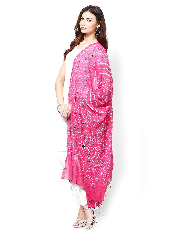 470ec3161b Ruhaans Pink Jaipuri Bandhej Dupatta | Desi Closet | Indian designer ...