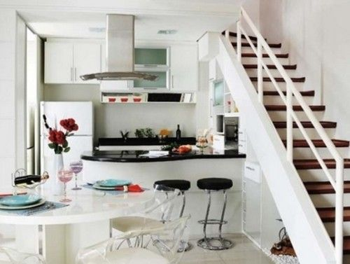 Dise os de cocinas bajo la escalera home pinterest for Barra bajo escalera