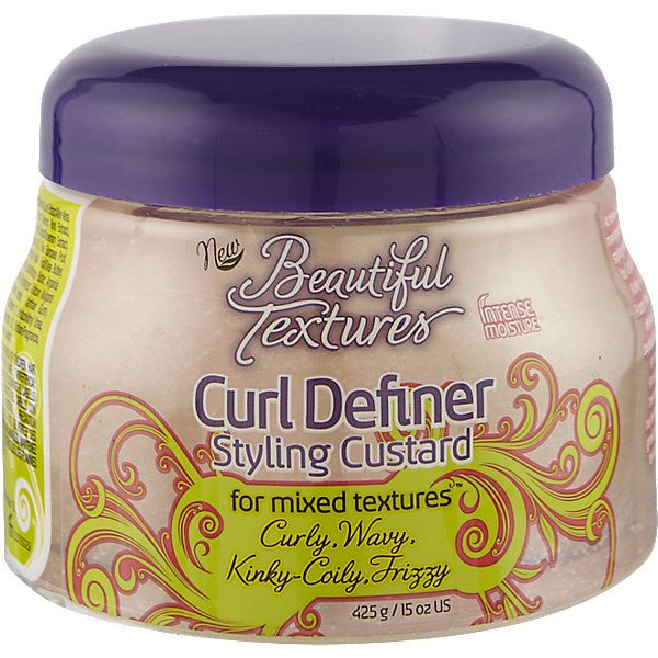 Beautiful Textures Curl Definer Styling Custard is enriched with Aloe Vera, Coconut, Olive, Vitamin E, Argan Oil, Shea and Mango Butter.