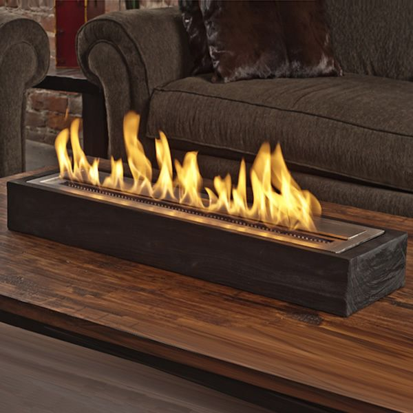 Brasa Sienna Ethanol Fireplace Wood And Stainless