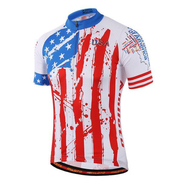 WEIMOSTAR Men s Breathable Short Sleeve USA UK Italy Cycling Jersey  Sz  S-3XL  (8 Colors) 0c4835675