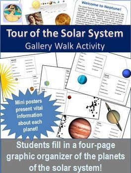 Solar System Introduction to the Planets Gallery Walk Tour ...