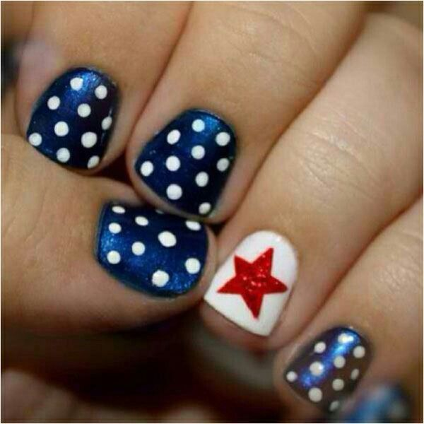 4 July nails | Nail Designs/and more | Pinterest