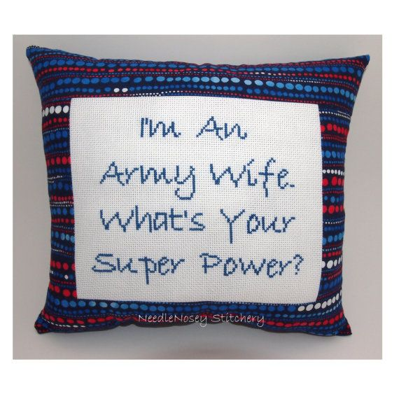 Funny Cross Stitch Pillow Cross Stitch Quote Red by NeedleNosey,