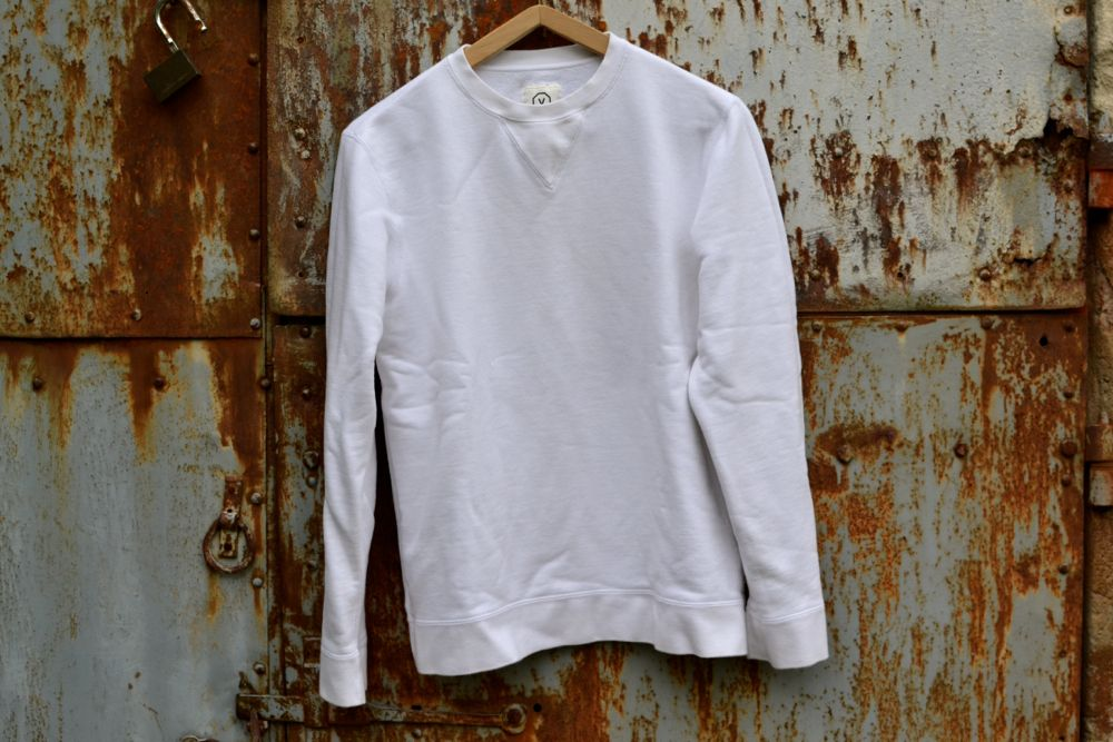 4a598411a BORASIFICATION: Visvim white cotton crewneck sweater | knit ...