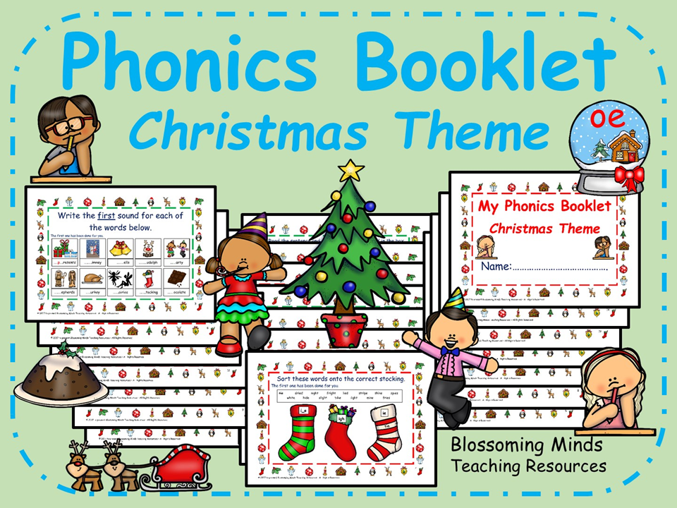 Christmas Phonics Activity Booklet - 20 pages | Phonics ...