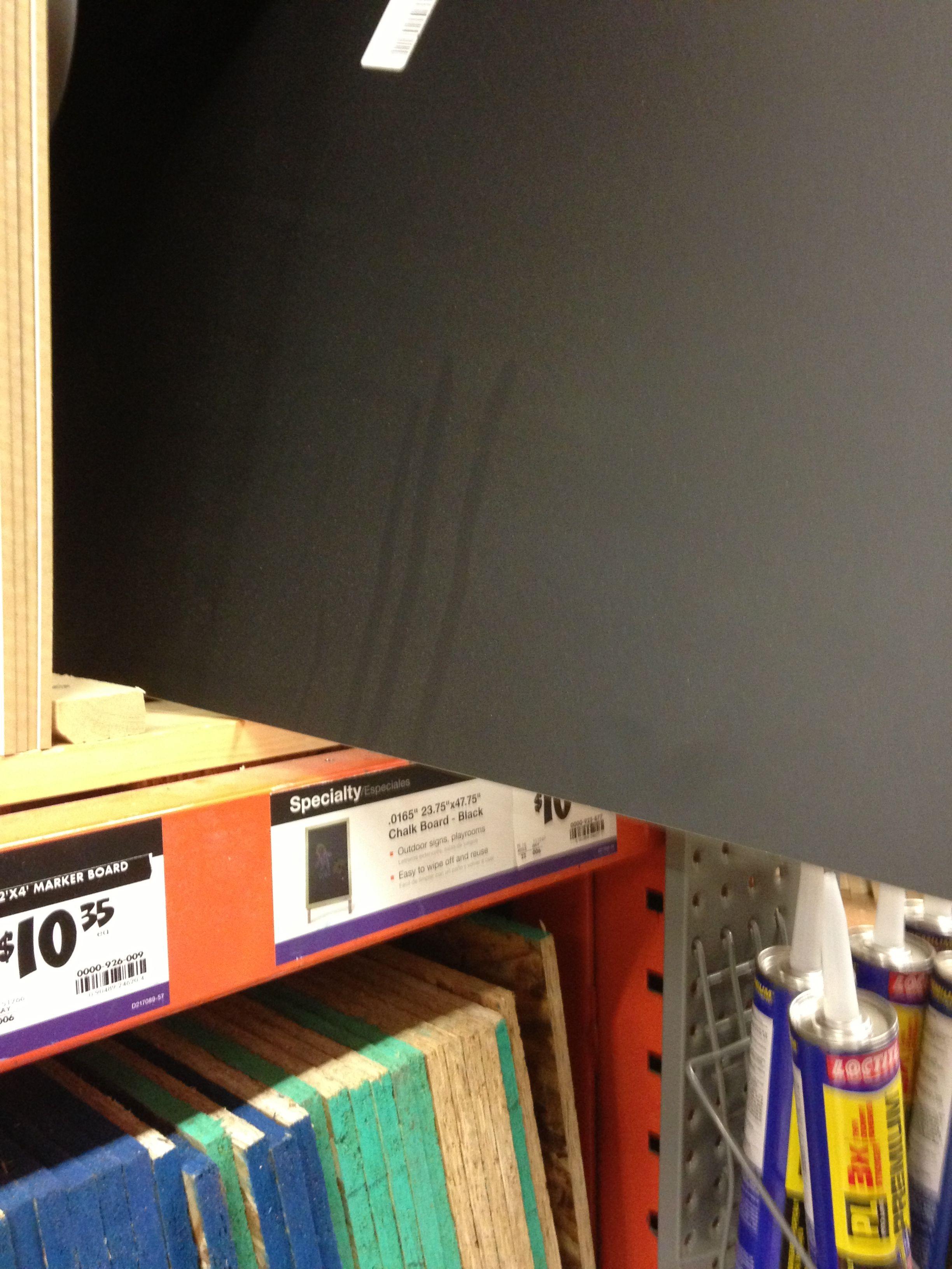 Home Depot chalkboard plywood Kitchen wall