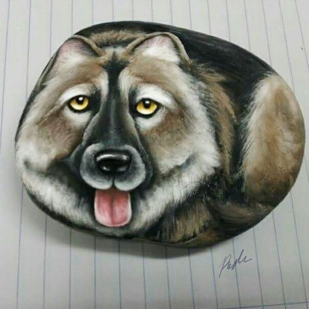 Dog on stone #1 #drawing #drawings #watercolor #art #art #draw ...