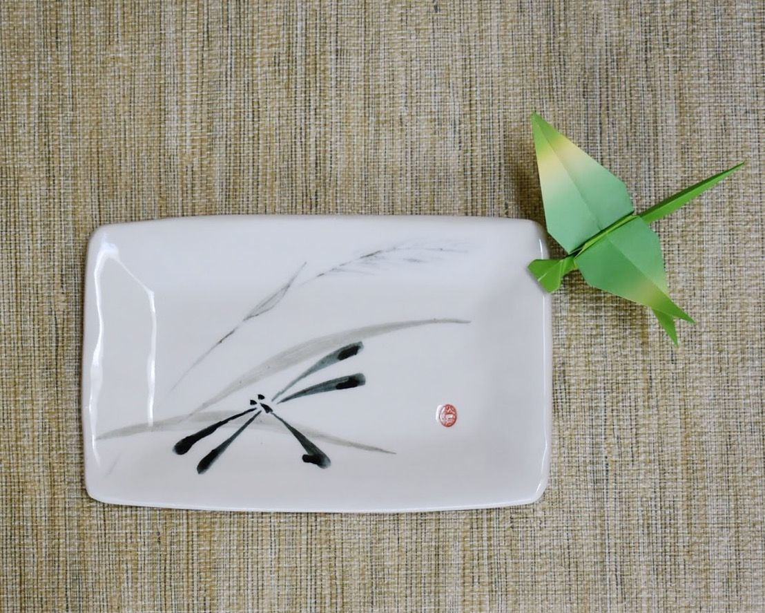 Sumi e dragonfly personal size porcelain dinnerware plate sumi e dragonfly personal size porcelain dinnerware plate dragonfly is a symbol of success biocorpaavc