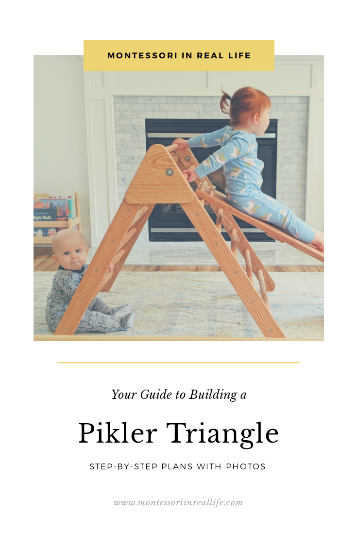 How To Build A Pikler Triangle Montessori In Real Life Diy Montessori Toys Diy Plans Diy Toddler