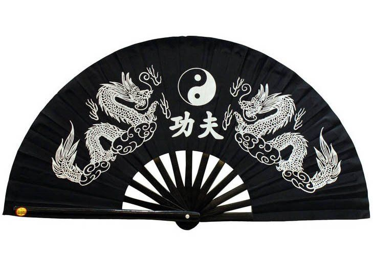 Bamboo Fan with Yin Yang Design/Tai Chi Fan / craft fan