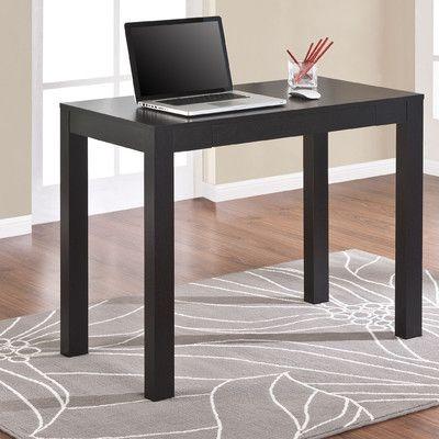 Altra Furniture Parsons Writing Desk In Black Oak