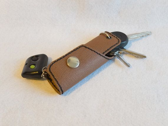 Leather Key Pouch by PebblesTheCrafter on Etsy