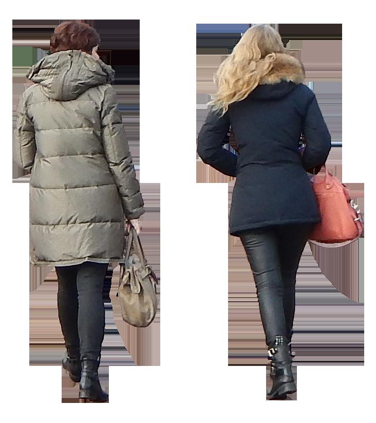 urban people walking back | People png, People walking png ...