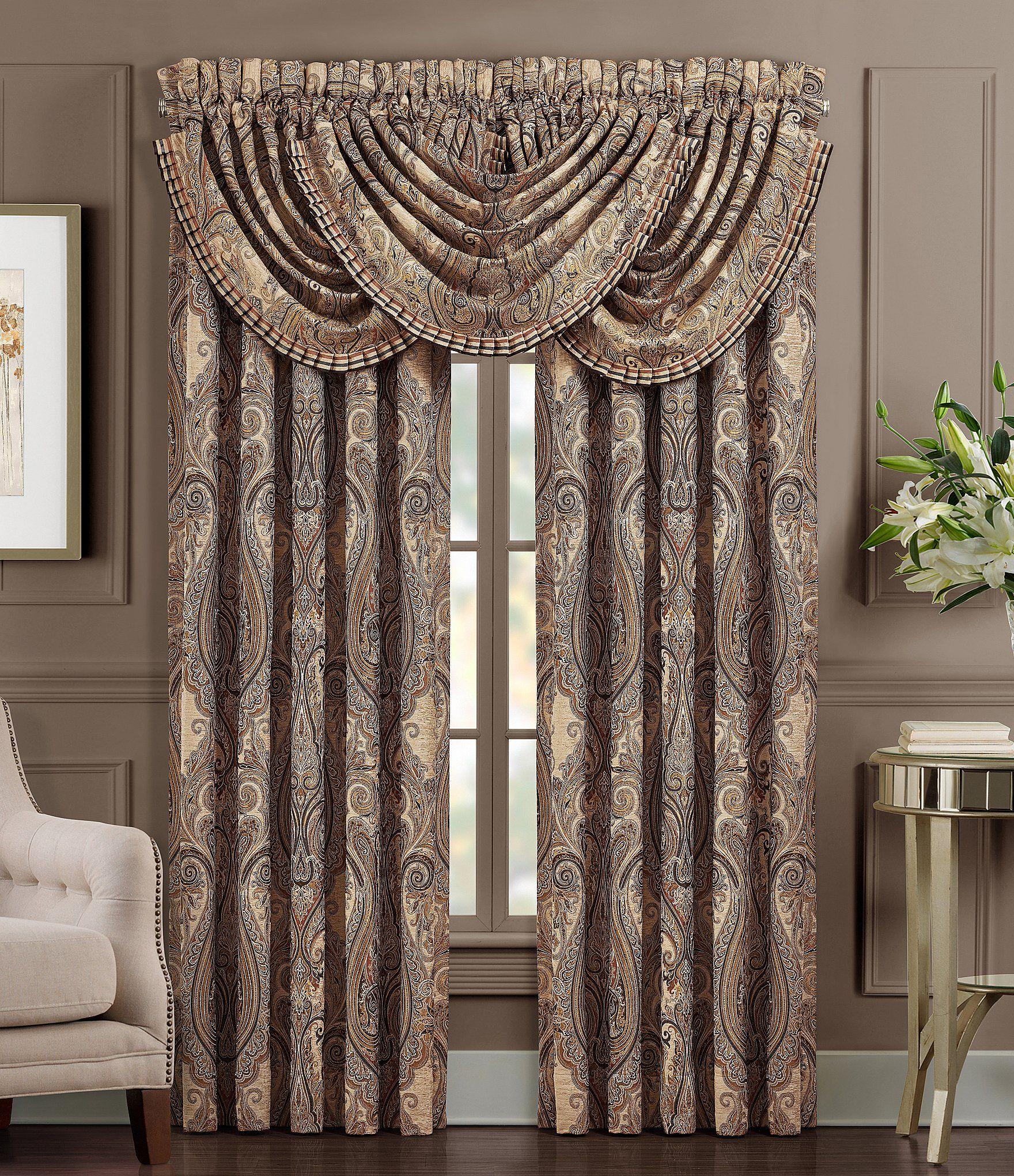 J Queen New York Luciana Window Treatments Dillard S Fancy Living Rooms Fancy Curtains Elegant Curtains