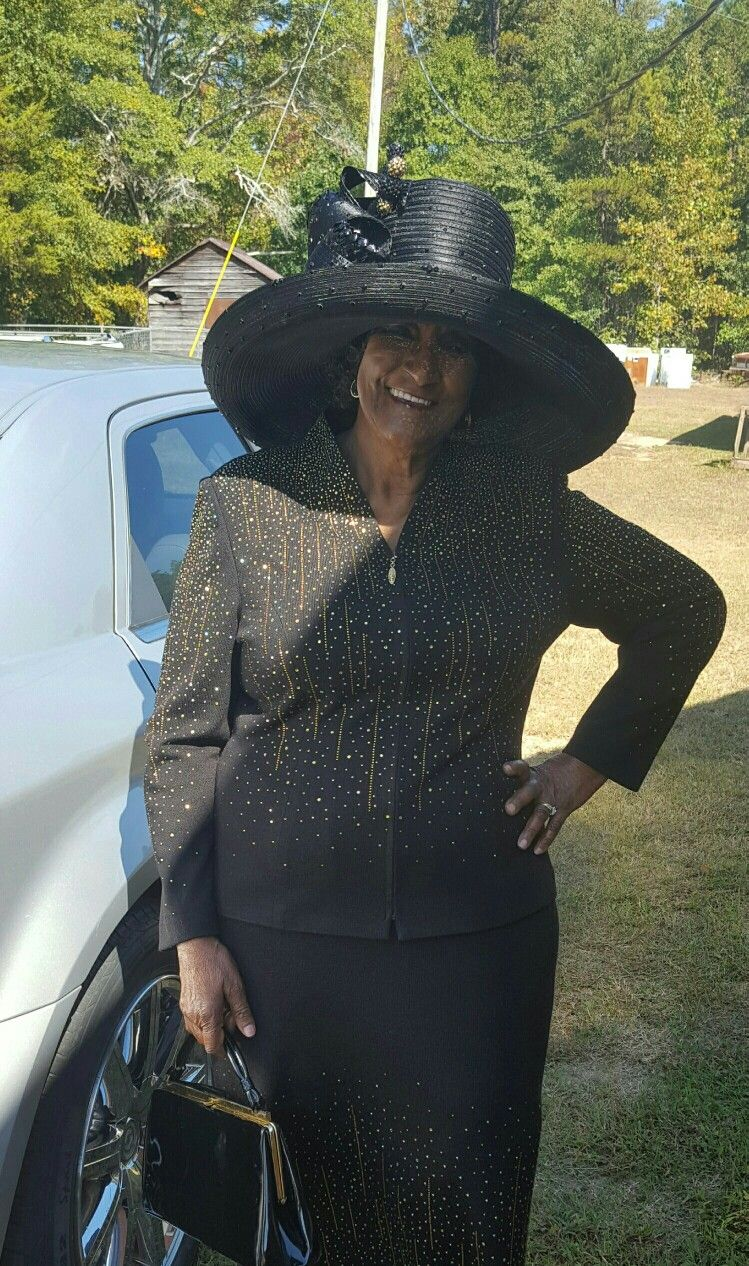 b68d2947885 Black wide brim Louise D. Patterson Couture by Joyce Richardson ...