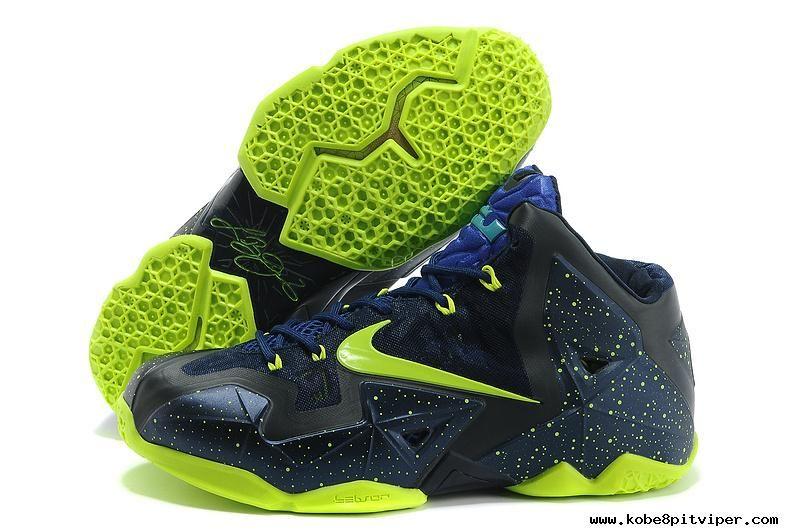 separation shoes b075b f676e NikeID Navy Volt Blue Nike LeBron 11