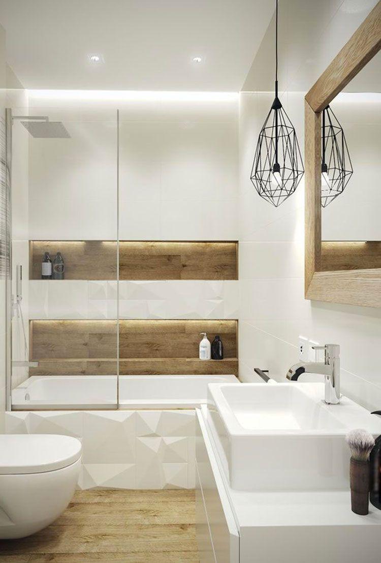 Bagno bianco e legno 13