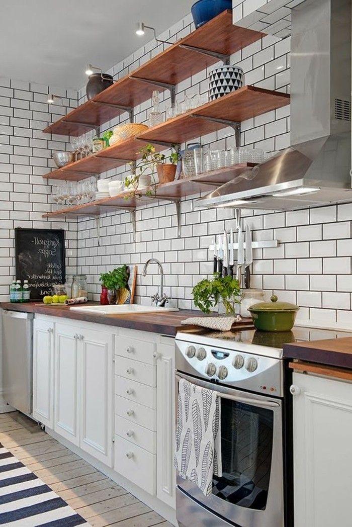 Le Carrelage Metro Blanc Fait Fureur Dans La Cuisine Dapur