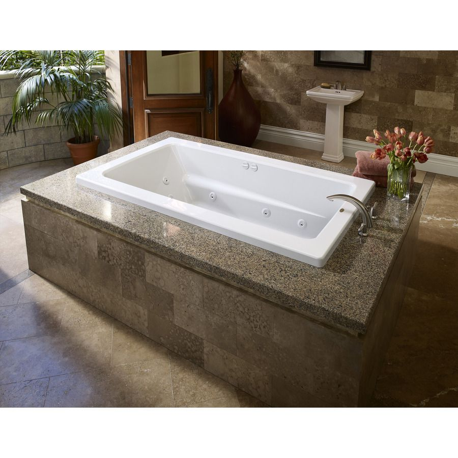 Shop Jacuzzi 72-in L X 42-in W X 21-in H Primo White