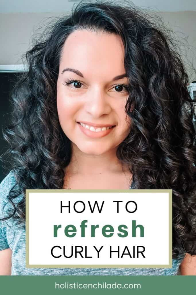 How To Refresh Curly Hair Recipe In 2020 Diy Curls Curly Hair Diy Dry Shampoo Curly Hair