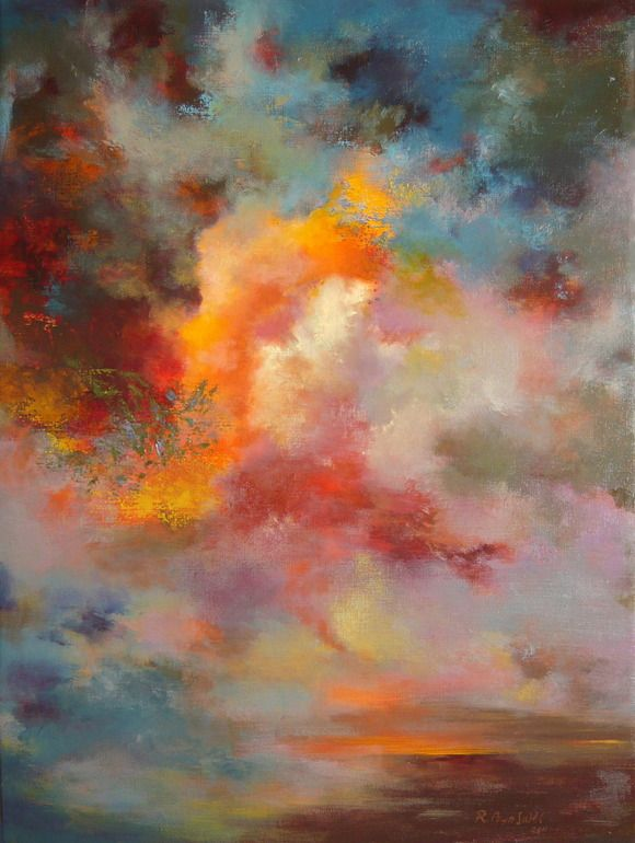"I want to see this sky.  Really like the color.  --Rikka Ayasaki; Acrylic, Painting ""Passions 7004"""