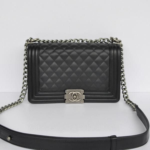 94038c14aae Fake Chanel Boy Chanel bags 67086 2way Black   shop   Chanel, Chanel ...